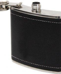 Prisrčnica kovinska v PV usnju 150 ml