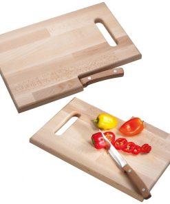 Kuhinjska bukova deska z nožem